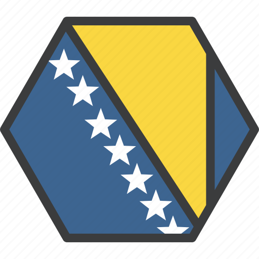bosnia, country, european, flag, herzegovina icon