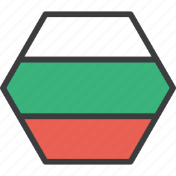 bulgaria, bulgarian, country, european, flag icon