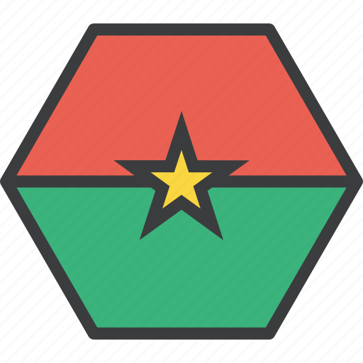 african, burkina, country, faso, flag icon
