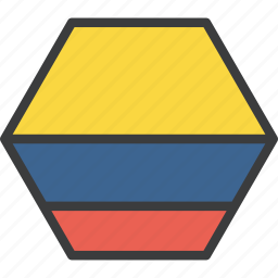 colombia, colombian, country, flag icon