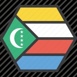 african, comoros, country, flag icon