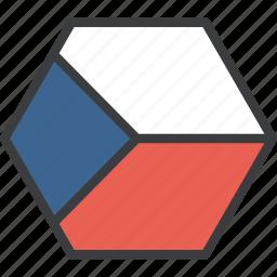 country, czech, european, flag, republic icon