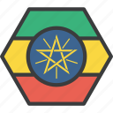 african, country, ethiopia, ethiopian, flag icon