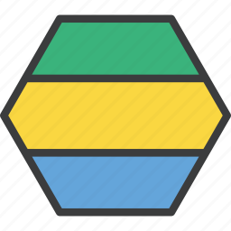 african, country, flag, gabon, gabonese icon