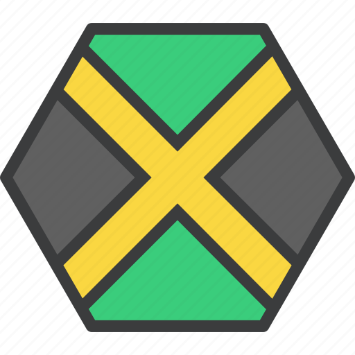 country, flag, jamaica, jamaican icon