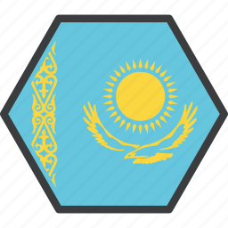 asian, country, flag, kazakh, kazakhstan icon