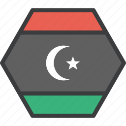 african, country, flag, libya, libyan icon