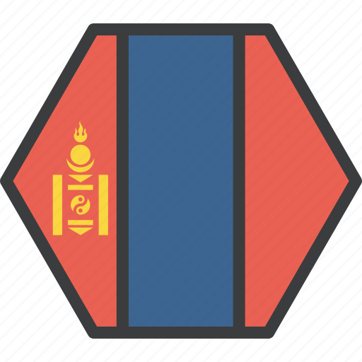 asian, country, flag, mongolia, mongolian icon