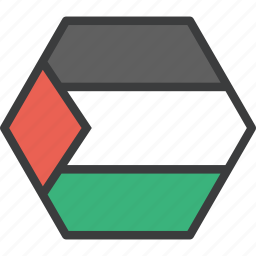 asian, country, flag, palestine, palestinian icon
