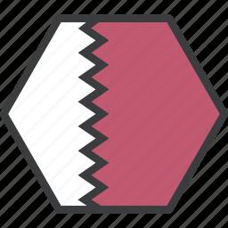 asian, country, flag, qatar, qatari icon