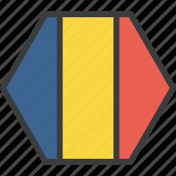 country, european, flag, romania, romanian icon