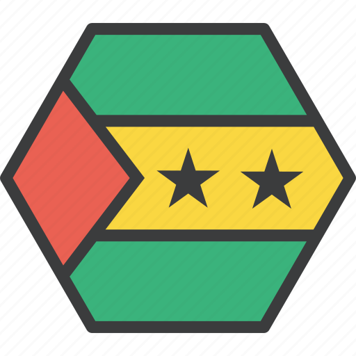 country, flag, sao, tome icon