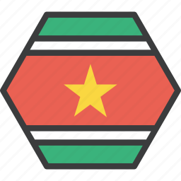 country, flag, suriname icon