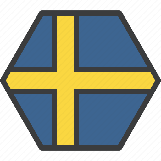 country, european, flag, swede, sweden, swedish icon