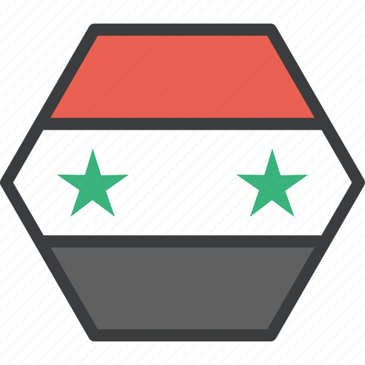 asian, country, flag, syria, syrian icon