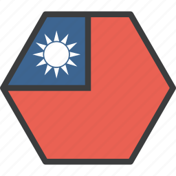 asian, country, flag, taiwan, taiwanese icon