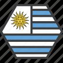 country, flag, uruguay icon