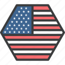 america, country, flag, states, united, usa icon