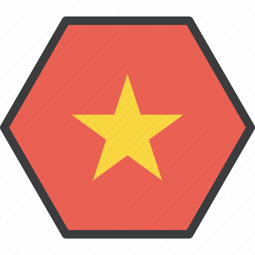asian, country, flag, vietnam, vietnamese icon