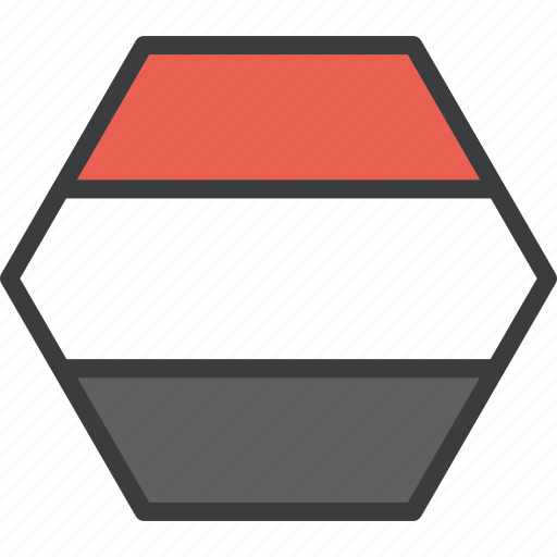 asian, country, flag, yemen icon