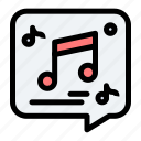 chat, message, multimedia, music, note