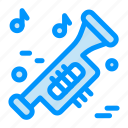 instrument, music, trumpet, university icon