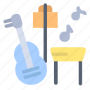 guitar, music, song icon