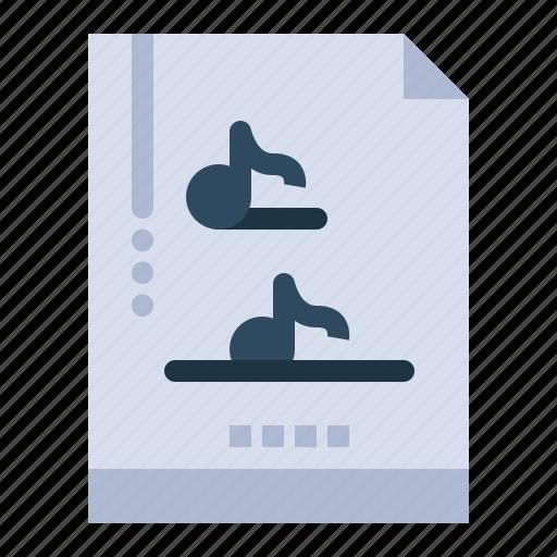 document, file, multimedia, music icon