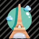 building, eiffel, landmark, tower icon
