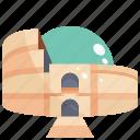 building, colosseum, landmark icon