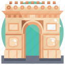 arc, building, de, landmark, triomphe icon