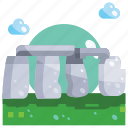 building, landmark, stone, stonehenge icon
