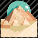 giza, of, building, landmark, pyramids icon