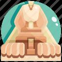 building, great, landmark, sphinx, the icon
