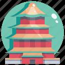 beijing, building, landmark, palace, summer icon