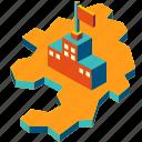 corporation, investment, multinational, organization, regional headquarters, rhq icon