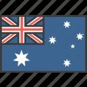 aussie, australia, country, flag icon