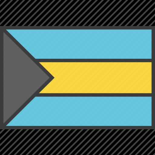 bahamas, country, flag icon