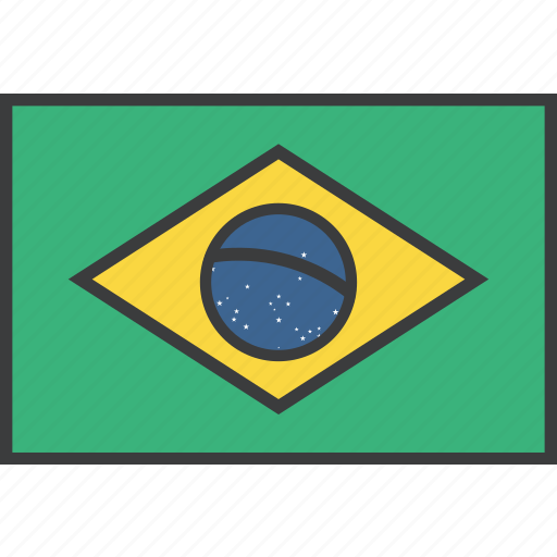 brasil, brazil, country, flag icon