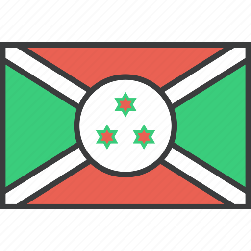 african, burundi, country, flag icon