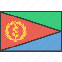 african, country, eritrea, flag