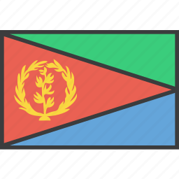 african, country, eritrea, flag icon