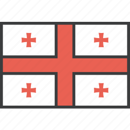 country, european, flag, georgia, georgian icon