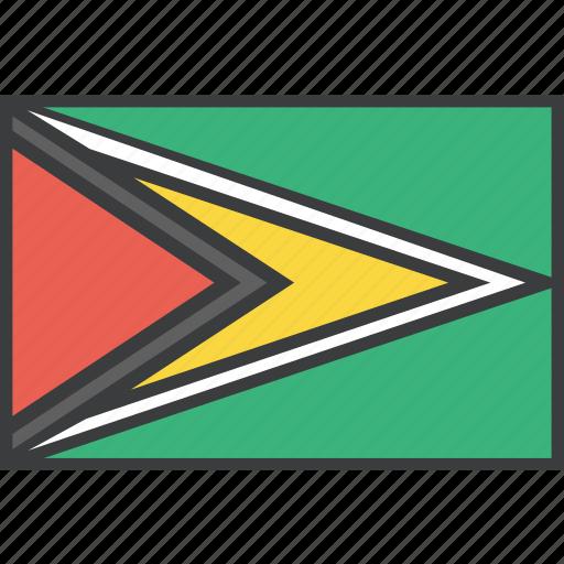 country, flag, guyana, guyanese icon