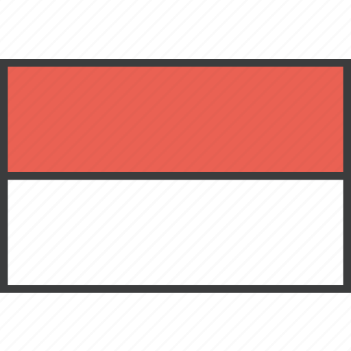 asian, country, flag, indonesia, indonesian icon