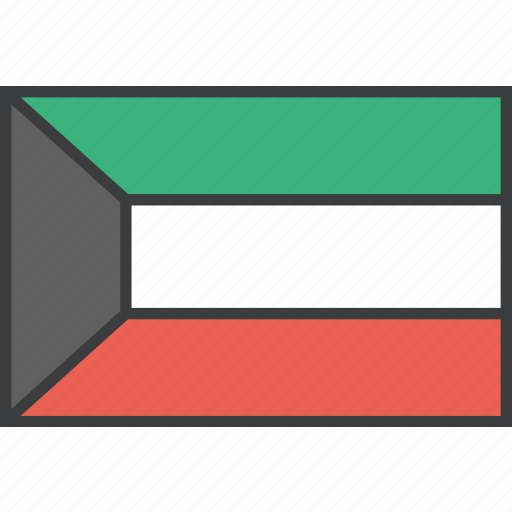 asian, country, flag, kuwait icon