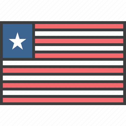 african, country, flag, liberia, liberian icon