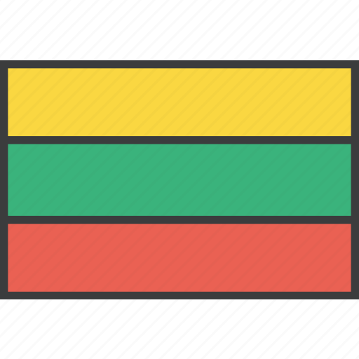 country, european, flag, lithuania, lithuanian icon