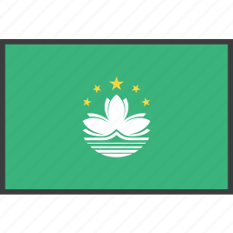 asian, country, flag, macau icon