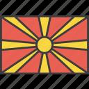 asian, country, flag, macedonia, macedonian